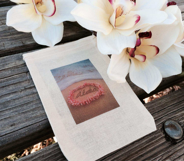 10 Aloha favor bags Hawaiian wedding favor bags by EverlongEvents