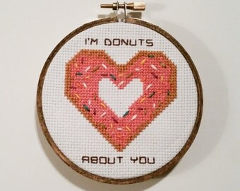 I'm Donuts About You! Cross Stitch
