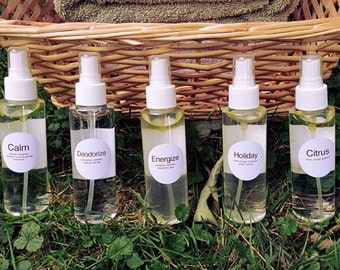 Room and Linen Spray- 5 Scent Options/ All Natural/ Homemade/ Vegan