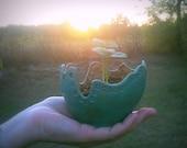 "Little ""Azure"" planter- Treasury Item"
