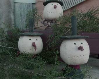 Primitive Snowman Makedo E-pattern