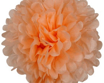 """8"""" Peach Tissue Pom Pom Party Decoration - Item:TPP080097 - Just Artifacts Brand - Visit Our Store For More Colors & Sizes"""