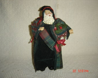 "Vintage Plastic Santa Claus Carrying Basket By Yestertime Crafts 11"" Tall"
