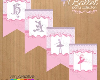 Ballerina Birthday Party Banner - Ballerina Birthday Party Decorations - Ballet Party Banner – Digital PDF Download