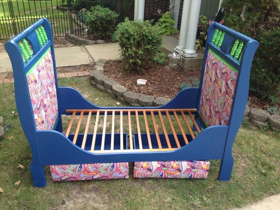 SOLDCustom Toddler Bed with two storage drawers underneath