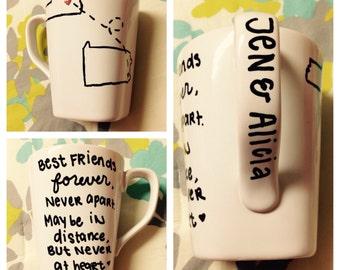 CUSTOM Best Friend/Couples Mug