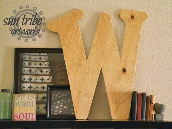 Wooden letter w 36 inch raw unpainted diy large big wooden for 36 inch wooden letters
