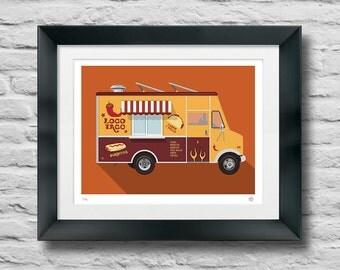 Taco Truck - Art - Giclee Print