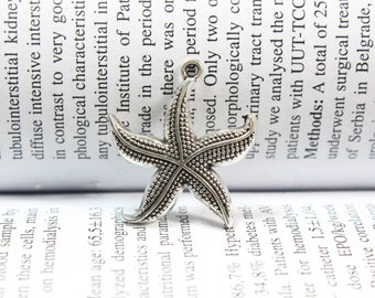 Starfish charms 26mm antique silver tone Starfish Charm pendants