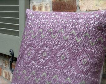 Waist woven elegant decorative pillow- Pebble, Lavender, Olive