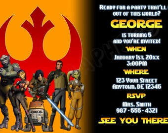 Star Wars Rebels Birthday Invitation - Printable