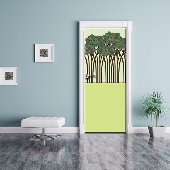 Door Sticker Fantasy Forest Wall Decal Cute Baby By