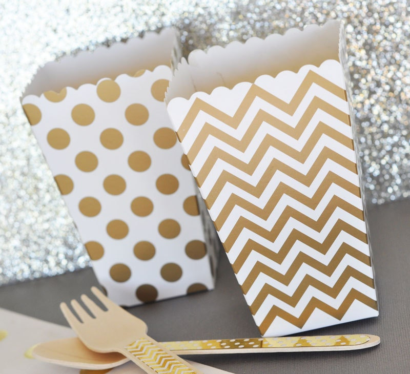 12 popcorn boxes baby shower bridal shower by partypresentation