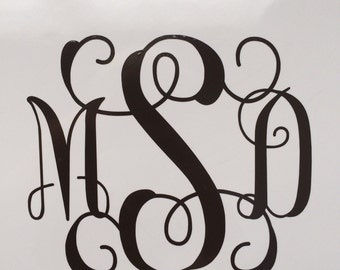 """2-3"""" monogram decals made just for you! Premium vinyl used so you can use them wherever you'd like! Monogram everything! ;-)"""