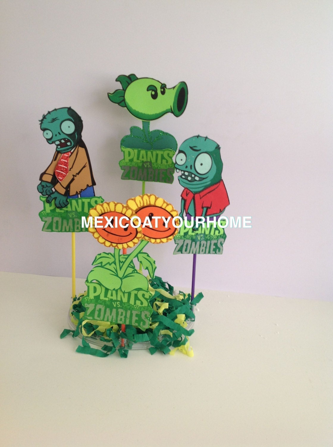 Plants vs zombies party decoration birthday party favor for Decoration zombie