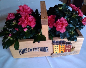 Big wooden box for flowers