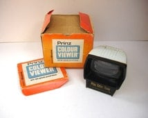 1970s Prinz Colour Viewer Dixons Twin Optically Ground Lenses 35mm Photo Viewer Color AGFA KODAK Slides Table Viewer Original Instructions