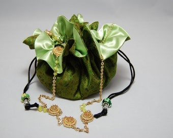MYSORE JUNGLE.  Sold Out  Jewelry Travel Bag,  Jewelry Storage, Jewelry Organizer,  Cosmetic Organizer,  Medicine Organizer, Gifts