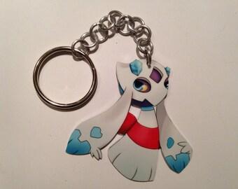 Pokemon Froslass Keychain Handmade