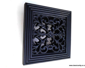 "Cast iron effect or White exterior use 6 x 6"" 100mm(4""or 5"") Ducting air vent cover"