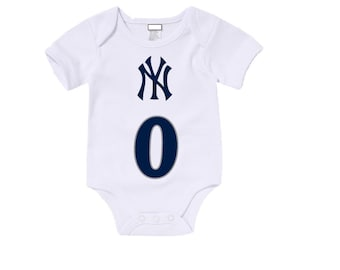 Custom New York Yankees Onesies / T shirts with custom name and number,