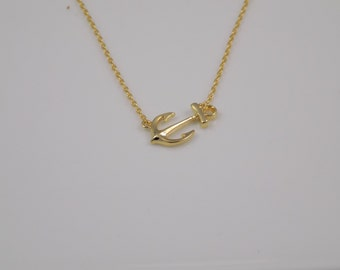 Anchor Necklace-Delta Gamma & Alpha Sigma Tau Gold Plated