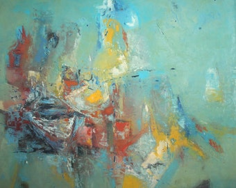 Contemporary European abstract art oil painting