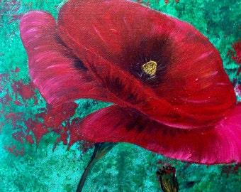 Poppy Dreams - Original Acrylic Painting on Canvas