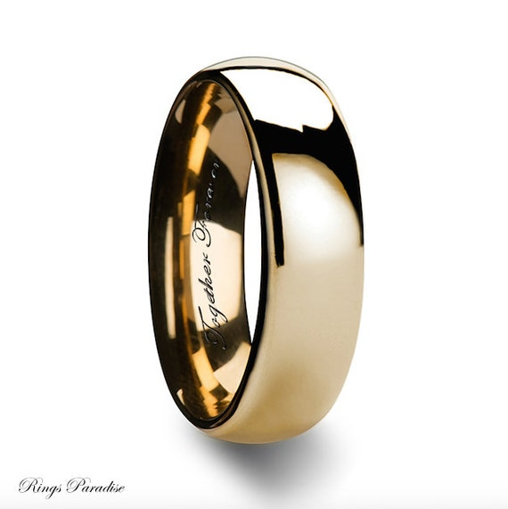 Yellow Gold Bands, His and Hers, Wedding Bands, Wedding Band Women, Wedding Rings, Mens Rings, Mens Tungsten Band, His Her Promise Rings