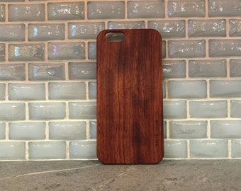 IPHONE 6 CASE real hand polished rosewood case