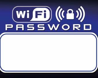 WiFi Password/Key Dry Erase Magnet