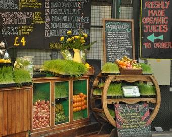 Food Photography, Kitchen Wall Art, Kitchen Decor, Wall Art, Restaurant Decor, Juice, Fruit, Market, Europe