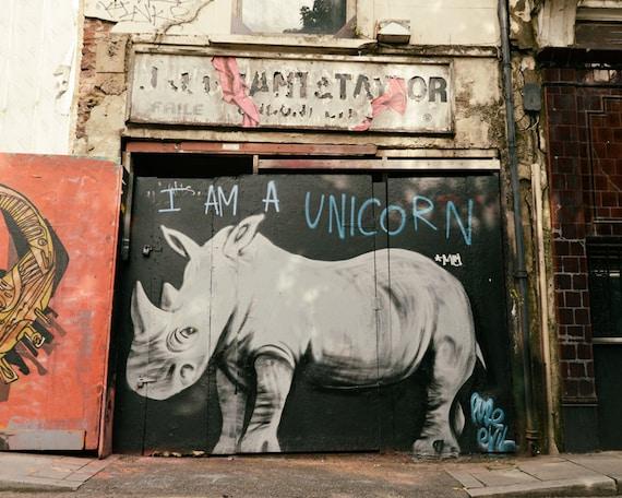 Graffiti Art Street Art Rhino Home Decor Contemporary Wall