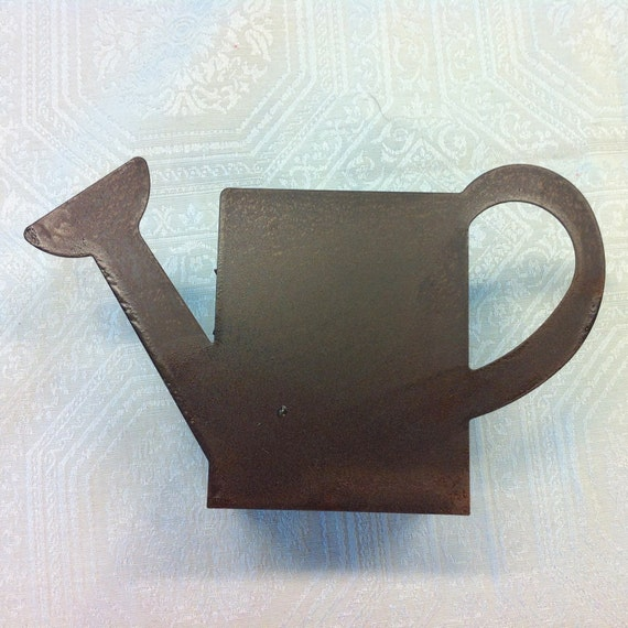 Unusual Watering Cans: Unusual Silhouette Watering Can Shaped Bronze Tone Small