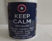 Keep Calm and Love Captain America Picture Coffee Mug