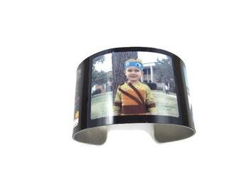Custom Aluminium Photo Cuff Bracelet 3 photos