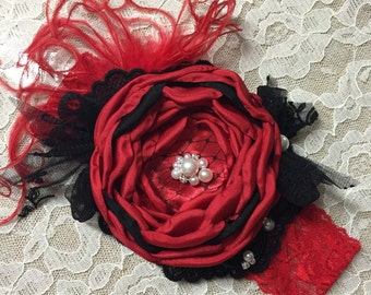 Red & Black Headband