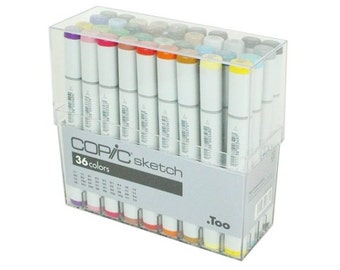 36 Copic Markers Sketch Artist Set; Copic Sketch Drawing Set of 36 Pens; Copic Manga, Anime, Drawing Markers Set
