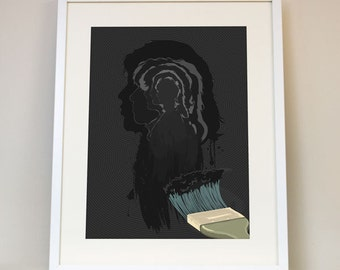 Paint It Black - Rolling Stones Music Poster Art Print - Mick Jagger, Keith Richards, Classic Rock And Roll Album