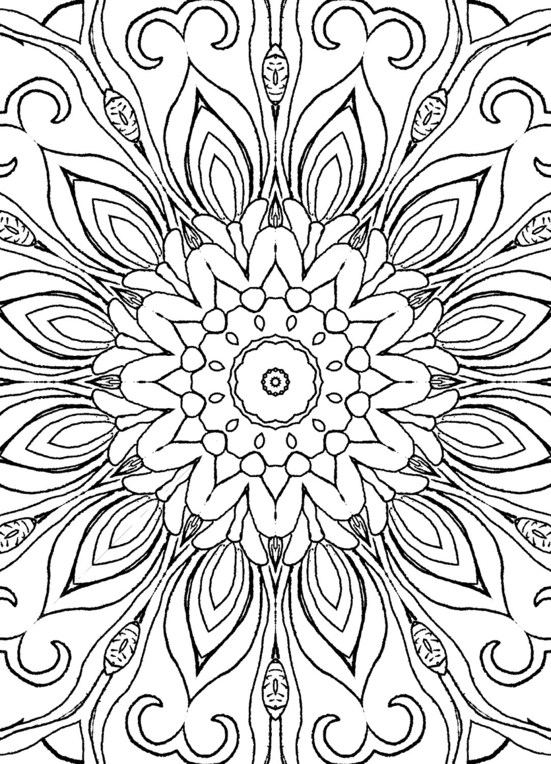 25 Coloring Pages including Mandalas Geometric Designs RugDetailed Mandala Coloring Pages For Adults