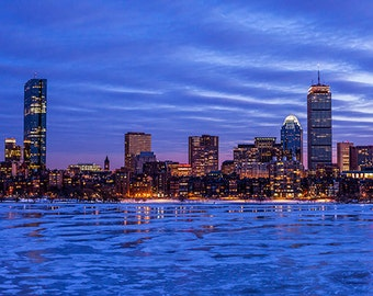 United States - Massachusetts - Boston skyline at dawn in winter - SKU 0150