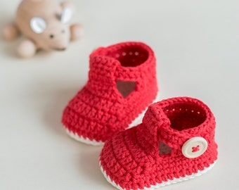 Crochet Baby Booties Pattern - Ruby Slippers - Instant Download