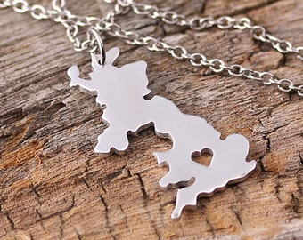 I heart England Necklace - England Country Charm - United Kingdom Pendant - Map necklace - Map Jewelry