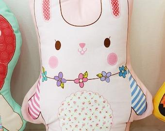 Decorative pillow toy bunny