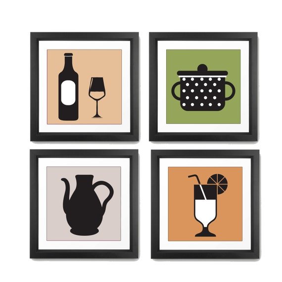 kitchen wall art kitchen wall decor kitchen print set
