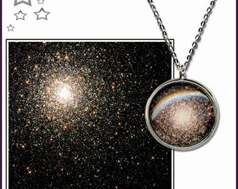 Star Cluster Pendant on a sterling silver chain