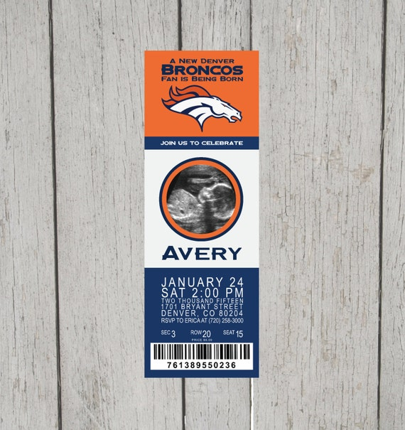 Denver Broncos Baby Shower/Birthday Party By EricaNiwaDesign
