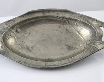 Antique Pewter plate Kayserzinn 641