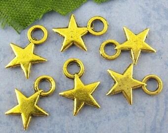Star pendant 20 x Gold