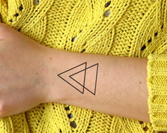 Double Triangle - Temporary tattoo (Set of 2)
